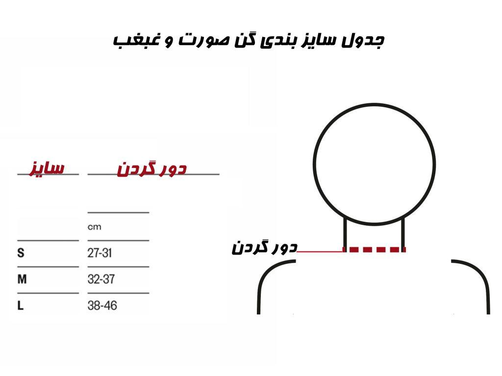 جدول سایزبندی گن آرافیکس