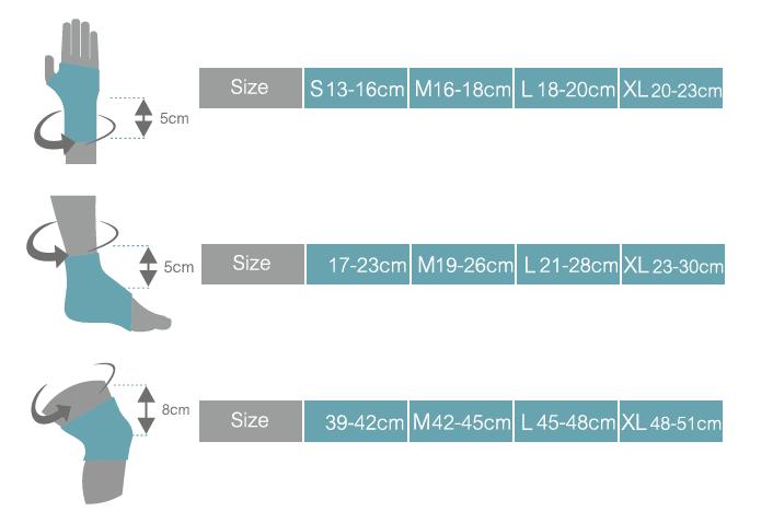 جدول سایزبندی